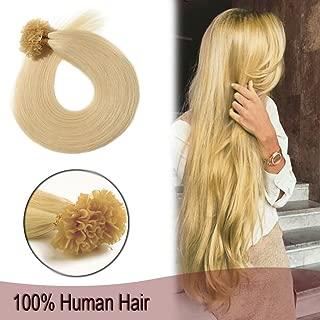 Remy Nail U Tip Pre Bonded Hair Extensions Human Hair 100 Strands Keratin Fusion Hair 20