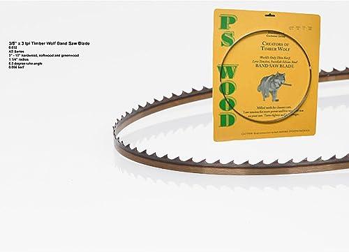 """popular Timber Wolf Bandsaw Blade popular 93-1/2"""" lowest x 3/8"""" x 3 TPI Alternate Set outlet online sale"""