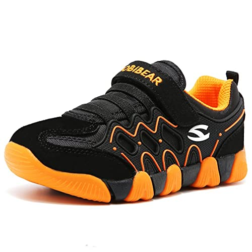 399facb666fc HOBIBEAR Kids Outdoor Sneakers Strap Athletic Running Shoes