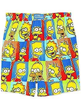 The Simpsons Family Men s Briefly Stated Boxer Shorts Underwear  Small Multi