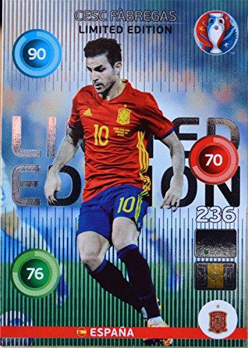 carte PANINI EURO 2016 # Cesc Fabregas