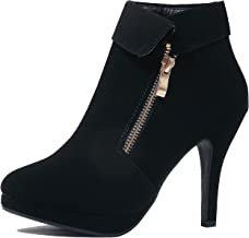 Guilty Heart Womens Stiletto Platform High Heel Sexy Party Ankle Bootie Boots