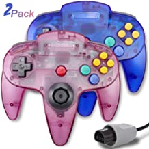 $26 » 2 Packs N64 Controller, King Smart Wired N64 Controllers with Upgraded Joystick for Original Nintendo 64 Console (Sapphire...