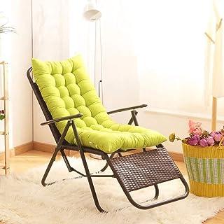 JFFFFWI Tumbona Sillón reclinable de Engrosamiento súper Suave Sillas reclinables para jardín al Aire Libre Relajante para Patio con cojín Muebles Plegables de múltiples Posiciones Tumbonas Acolchad
