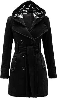 Best women's military button hooded fleece belted jacket Reviews
