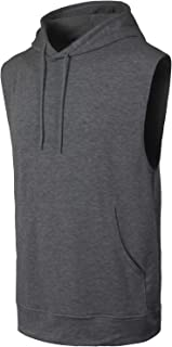 JC DISTRO Mens Hipster Hip Hop Hooded Tanktop Drawstring Hoodie Pocket (Big Sizes)