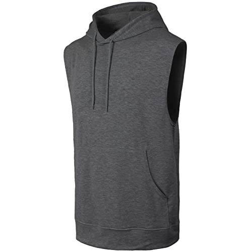 06481330 JC DISTRO Mens Hipster Hip Hop Hooded Tanktop Drawstring Hoodie Pocket (Big  Sizes)