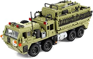 inFUNity Heavy Missile Truck Army Vehicle Military Building Blocks for Adults (1377 PCS), Bricks Compatible with Major Brands
