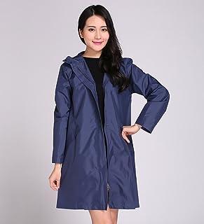 PENGFEI レインコートポンチョ 防水レインジャケットコートインパクトクロス薄くて軽いシーアイア通気性のハイキング、5色、ワンサイズ (色 : 濃紺, サイズ さいず : M)