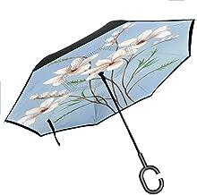 flyrio Inverted Umbrella Travel Umbrella for UV Protection & Rain, 42.5