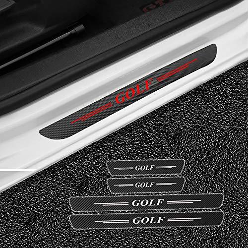 ZXCY Auto Kohlefaser Schwellenaufkleber Einstiegsleisten, für Volkswagen VW Golf 1 2 3 4 5 6 7 7.5 Schutz Aufkleber Verschleiß Verhindern Kratzer rutschfest Schwellen, 4 Stück