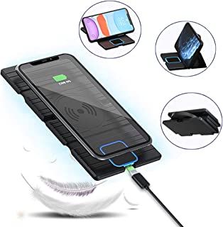 Fast Wireless Charger(Max 15W),Foldable CENSHI Qi Wireless Charging Pad Compatible iPhone11,11Pro,11Pro Max,Xs,XS Max,XR,X,8Plus,8,Samsung Galaxy S10,S9,Note10, Note 9 and More.(Black)