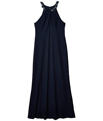 Adrianna Papell Crepe Evening Gown (Midnight) Women