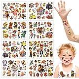 Paw Patrol Tattoo Kinder, 8 Blätter Tattoo Kinder, Paw Patrol Kindertattoos Aufkleber, Temporäre Tattoos Set, Kindertattoo, Wasserdichte Kindertattoos, Kindergeburtstagsgeschenk...
