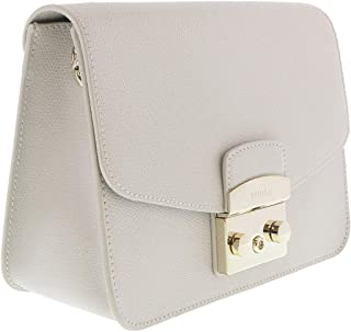 FURLA METROPOLIS BNF8 Light Grey Crossbody Bag for Womens