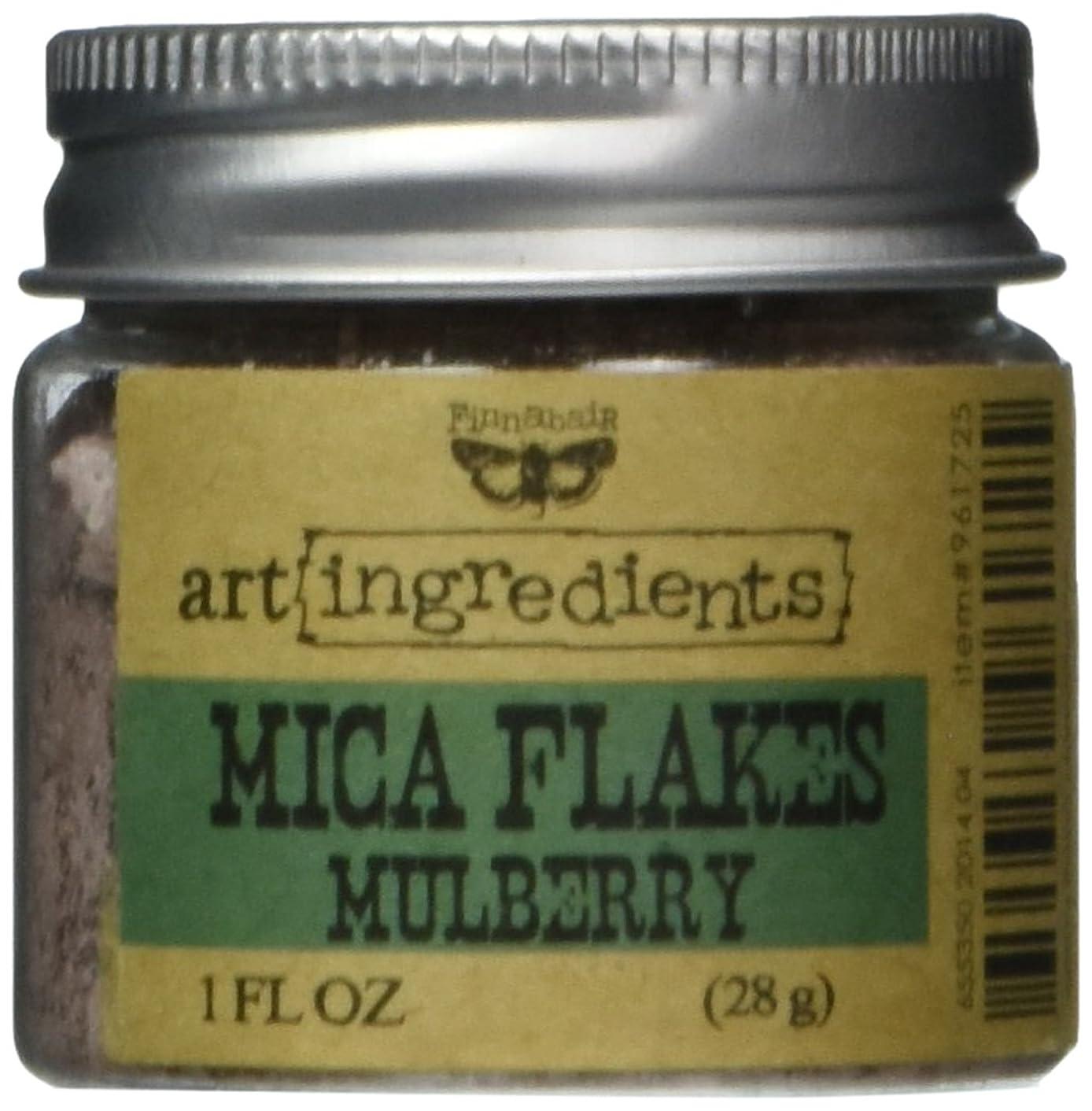Creative Converting AIMF-96172 Finnabair Art Ingredients Mica Flakes, 1 oz, Mulberry