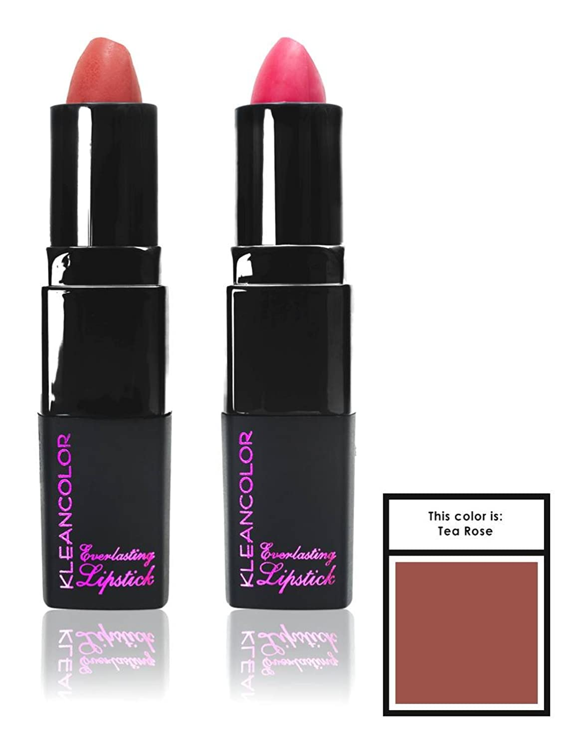 タヒチ鋸歯状大使KLEANCOLOR Everlasting Lipstick - Tea Rose (並行輸入品)