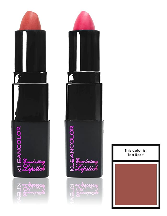 広がり風調停するKLEANCOLOR Everlasting Lipstick - Tea Rose (並行輸入品)