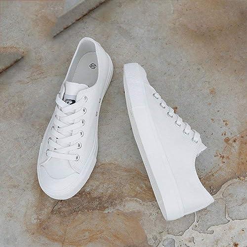 Willsego Chaussures de Sport Hommes Occasionnels Chaussures de Fond Plat Chaussures Couple Sport Peints à la Main Petites Chaussures Blanches Hommes (Couleuré   Blanc, Taille   42)