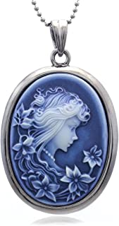 Soulbreezecollection Cameo Pendant Necklace Charm Fashion Jewelry Gift for Women