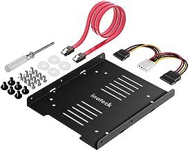 """Inateck Einbaurahmen für 2,5"""" HDD/SSD, 2,5"""" auf 3,5"""" interner Dual Festplattenrahmen, unterstützt 1 SSD/HDD, inkl. Montagezubehör und SATA 3 Kabel"""