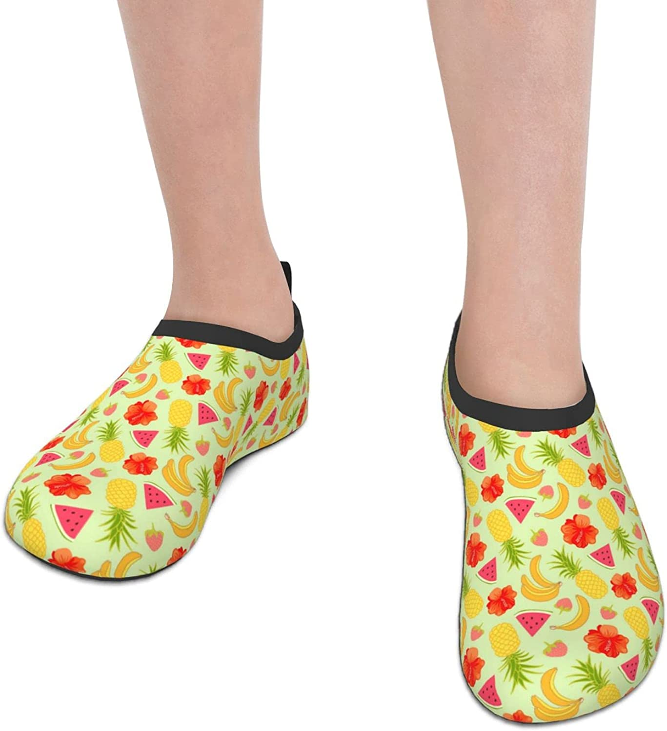 Red Fruit Watermelon Tropics Melon Children's Water Shoes Feel Barefoot for Swimming Beach Boating Surfing Yoga