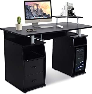 da Ufficio huangThroStore Scaffale Regolabile per Computer Accessori da scrivania Nero Supporto per Monitor con mensola portaoggetti con Clip