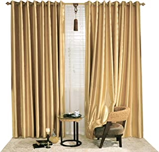 KoTing Blackout Golden Curtain Drape for Bedroom 1 Panel Gorgeous Solid Gold Curtain Grommet Top Drapes 63 inch Long 42 63