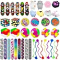 44 Pc Party Favor Toy Assortment for Kids Party Favor, Birthday Party, School Classroom Rewards, Carnival Prizes, Pinata Fillers, Treasure Chest, Prize Box Toys, Goody Bag Fillers from Kocici