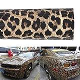 XhuangTech Car Body Leopard Pattern Vinyl Wrap Stickers Film Sheet DIY Sticker Films, Iron on Printed Heat Transfer Vinyl (12' x 60')