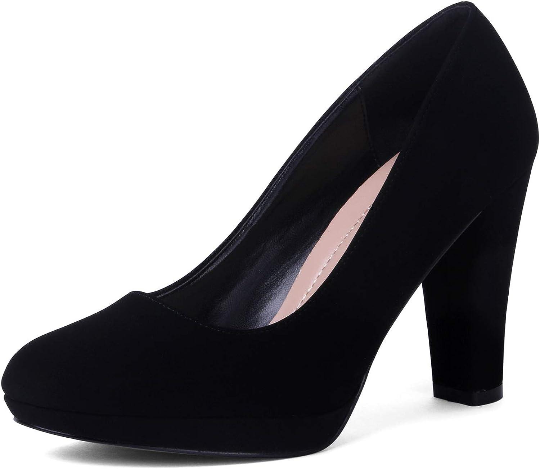 EMERLCY Women's Classic Heels Round Toe New Shipping Free Shipping Platform Shoes Pump store