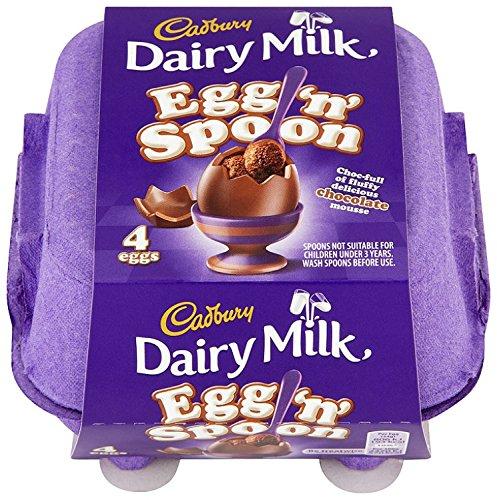 Cadbury Dairy Milk Egg 'n' Spoon Double Chocolate (4 eggs to share)
