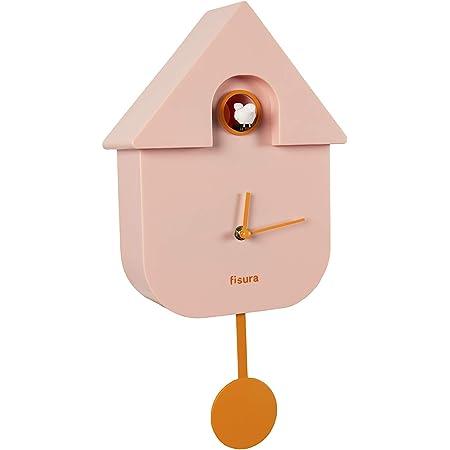 kinderzimmer Modern Design Wanduhr Pendel f/ür Kinder Kuckuck ohne tickger/äusche Acryl Blau