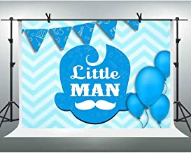 FHZON 10x7ft Infant Baptism Backdrop Blue Water Ripple Balloons Background for Photography Theme Party Wallpaper Photo Booth Props LSFH1207