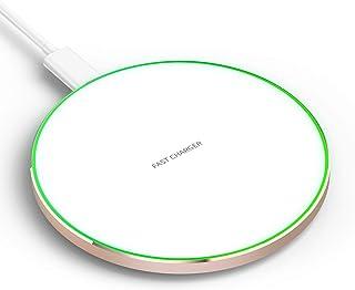 IMDEN 10W Qi ワイヤレス 充電器 qc 3.0 発熱対策 急速 無線 充電 超薄型 軽量 呼吸ランプ付き 多重保護 車載 ワイヤレスチャージャー スマホ充電器 LEDカラ フルなライト付き置くだけ充電 microUSB接続 iPho...