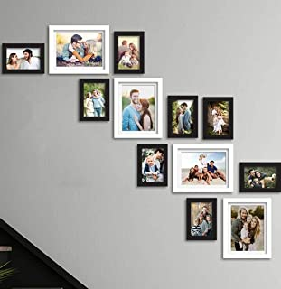Art Street Set of 12 Black & White Wall Photo Frame, Picture Frame for Home Decor with Free Hanging Accessories (Size - 5x...