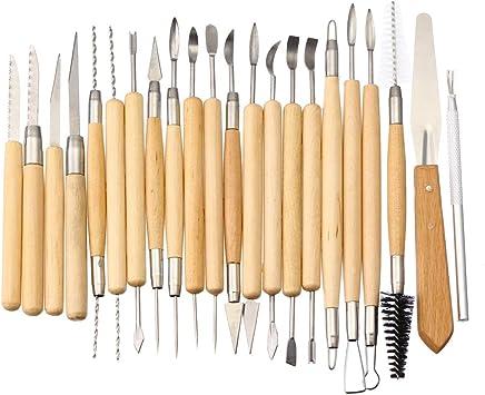 JCHUNL 22 Stücke Tonwarenlehm Werkzeug Set Sculpting Sculpting Sculpting Polymer Modellieren Kunst Carving DIY Kits New Hot B07QFX5BFH | Hat einen langen Ruf  db24ee
