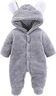 WYTbaby Mameluco del Bebé - Mono de Bebé con Capucha Infantil Otoño Invierno Trajes Todo en Uno