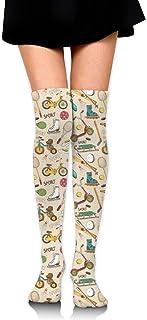 iuitt7rtree Calcetines de Falda de niña Uniforme Vintage Sports Mujeres Calcetines de Tubo Calcetines de compresión calcet...