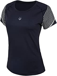 AH Anna Helium Workout Clothes Breathable Quick Dry Short Sleeve Tight Reflective Women Size XS-L