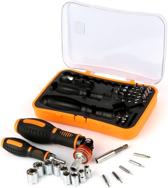 HUANGMENG Exquisite Werkzeuge JAKEMY JM-6102 43 in 1 Multifunktionsschraubendreher mit Steckbuchsen und Bits B07QGV9PTV | Neuer Stil