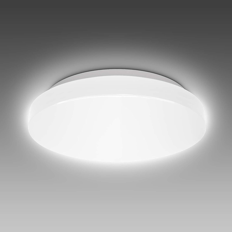 BKLicht 20 Watt LED Deckenleuchte Bad I IP20 Spritzwasserschutz I 20K  neutralweiße Lichtfarbe I 20lm Helligkeit I Badlampe I LED Deckenlampe Bad  I ...