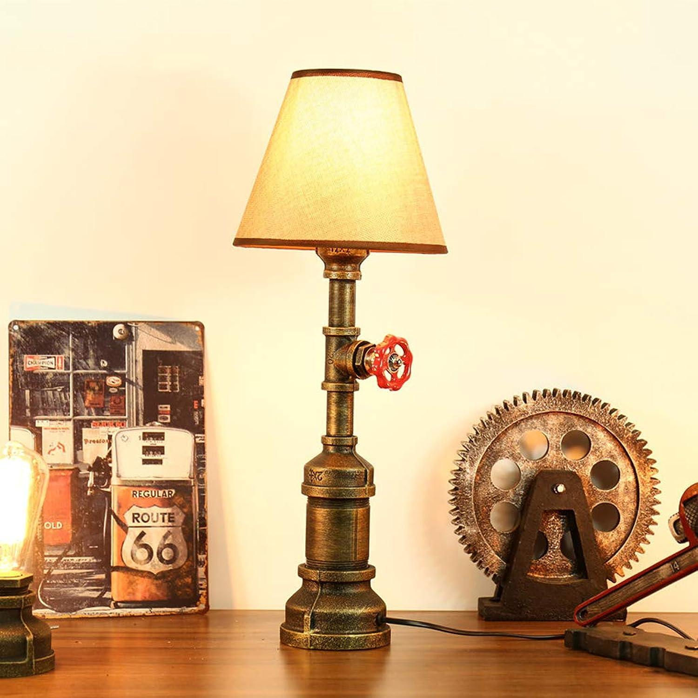 primera reputación de los clientes primero País americano creativa LED retro regalo regalo regalo bar cafetería industrial tubería de viento lámpara de mesa estudio cabecera  buen precio