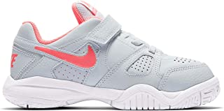 Official Brand Nike City Court 7 Trainers Childs Girls Grey/Pink Shoes Sneakers Kids Footwear