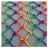 Red de Cuerda de Cáñamo Anticaída Escalada Cuerda Neta Grosor de Cuerda (0,4 Pulgadas) de Malla (4 Pulgadas) Red de Seguridad para Niños de Nailon de Color Red de Cuerda Decorativa Valla de Protecci