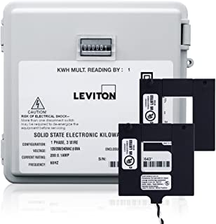 Leviton MO240-2W 200-Amp Mini Meter Kit with 2 Split CTs and Outdoor Enclosure