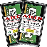 A-Tech 16GB (2x8GB) DDR4 3200MHz SODIMM PC4-25600 Non-ECC Unbuffered CL22 1.2V 260-Pin SO-DIMM Laptop Notebook Computer RAM Memory Upgrade Kit