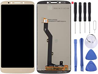Mobile Phones Communication Accessories LCD Screen and Digitizer Full Assembly for Motorola Moto E5(Black) (Color : Gold)