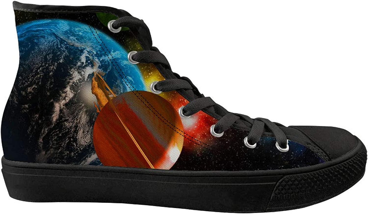 Youngerbaby Galaxy Canvas shoes High Top Hip hop Flat Walking Sneakers Unisex