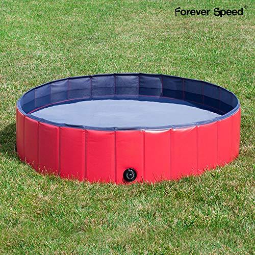 Forever Speed Piscina Perros,Gatos Bañera,Piscina Mascotas,Piscina para Niños Portátil Plegable Piscina de Baño Antideslizante,Resistente al Desgaste,PVC Doggy Pool